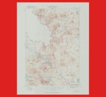 Maine USGS Historical Map Chain Lakes 306519 1932 62500 One Piece - Short Sleeve