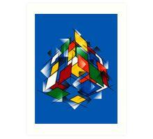 Rubik's Cubism Art Print