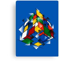 Rubik's Cubism Canvas Print