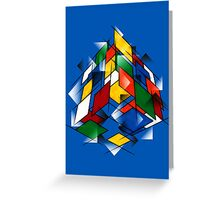 Rubik's Cubism Greeting Card