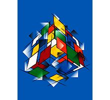 Rubik's Cubism Photographic Print