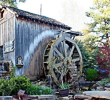 Water Wheel in Grand Rivers  by AnnDixon