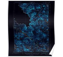 Maine USGS Historical Map Chain Lakes 460307 1935 62500 Inversion Poster