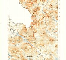 Maine USGS Historical Map Chain Lakes 460307 1935 62500 by wetdryvac