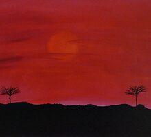 Kenyan Sunset by Amber Feng Shui Art
