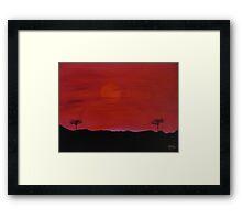 Kenyan Sunset Framed Print