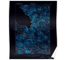 Maine USGS Historical Map Chain Lakes 460308 1935 62500 Inversion Poster