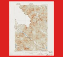 Maine USGS Historical Map Chain Lakes 460308 1935 62500 Baby Tee