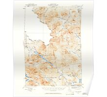 Maine USGS Historical Map Chain Lakes 460310 1932 62500 Poster