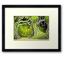 Magic Tale Forest Background Framed Print