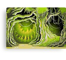 Magic Tale Forest Background Canvas Print