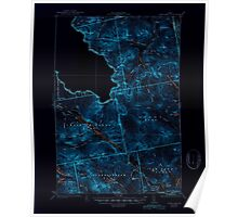 Maine USGS Historical Map Chain Lakes 461056 1935 62500 Inversion Poster