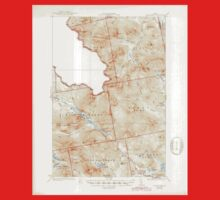 Maine USGS Historical Map Chain Lakes 461056 1935 62500 Kids Tee