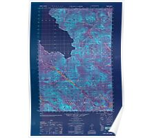 Maine USGS Historical Map Chain Lakes 806602 1951 50000 Inversion Poster