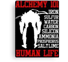 Full Metal Alchemist Brotherhood Anime : Alchemy 101 Anime T Shirt Canvas Print