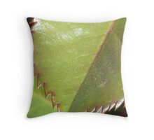 Saw Toothed Leaf Throw Pillow