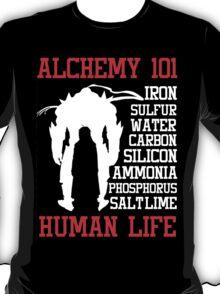 Full Metal Alchemist Brotherhood Anime : Alchemy 101 Anime T Shirt T-Shirt