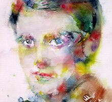 AYN RAND - watercolor portrait by lautir