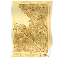 Maine USGS Historical Map Chain Lakes 807448 1928 48000 Poster