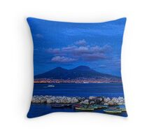 Blue Night in Naples - Mediterranean Impressions Throw Pillow