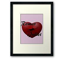 Romeo+Juliet broken heart Framed Print