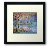 Wetlands at Sunset Framed Print