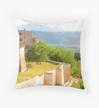 Fields of Umbria Throw Pillow
