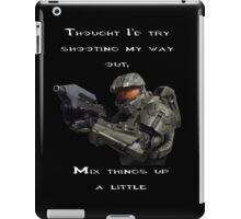 Halo - Thought I'd Try shooting my way out iPad Case/Skin