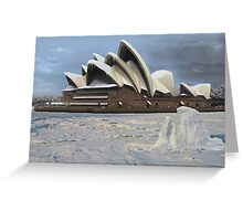 Sydney Opera House Snowstorm Greeting Card
