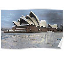 Sydney Opera House Snowstorm Poster
