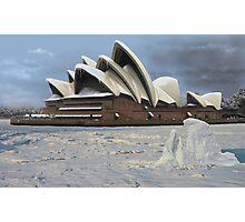 Sydney Opera House Snowstorm Photographic Print