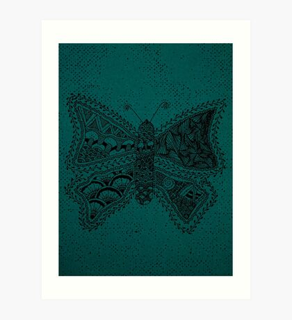 The Butterfly Of Planet Flora Art Print