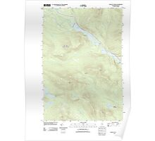 Maine USGS Historical Map Chain of Ponds 20110910 TM Poster