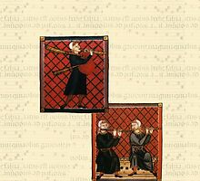 Medieval Sheet Music and Musicians by pyktispix