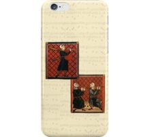 Medieval Sheet Music and Musicians iPhone Case/Skin