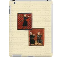 Medieval Sheet Music and Musicians iPad Case/Skin