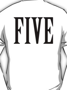 FIVE, NUMBER 5, FIFTH, TEAM SPORTS, Competition, BLACK T-Shirt
