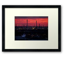 Rotterdam Harbour Skyline at Sunset, from Euromast Framed Print