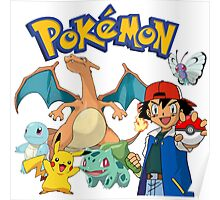 Ash Pokemon Team Poster