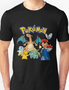 Ash Pokemon Team T-Shirt