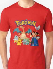 Ash Pokemon Team T-Shirt