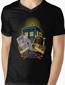 THE CYBERMEN AND THE DALEK Mens V-Neck T-Shirt