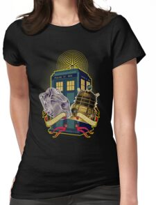 THE CYBERMEN AND THE DALEK Womens Fitted T-Shirt