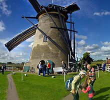 A Kinderdijk Windmill  by George Row
