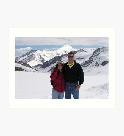 Peter and Laurie at Jungfraujoch Art Print