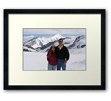 Peter and Laurie at Jungfraujoch Framed Print