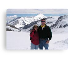 Peter and Laurie at Jungfraujoch Canvas Print