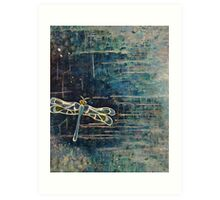 Dragonfly: For Rae With Love Art Print