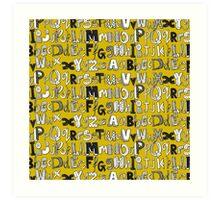 ABC yellow Art Print