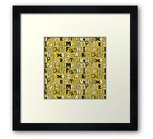 ABC yellow Framed Print